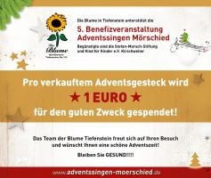Pro verkauften Adventsgesteck werden 1 Euro gependet