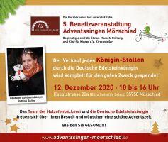 Der Verkauf jedes Königin-Stollen durch die Deutsche Edelstein Königin wird komplett gespendet